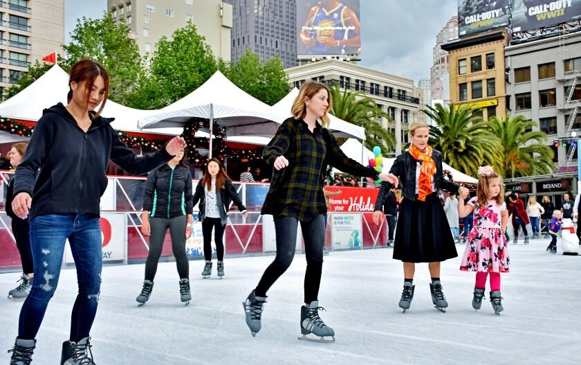 Ice skating in San Francisco