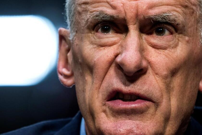 El director de Inteligencia Nacional (DNI), Dan Coats, testifica ante el Comité anual de Inteligencia del Senado, en Washington, EE.UU., el 13 de febrero del 2018. EFE