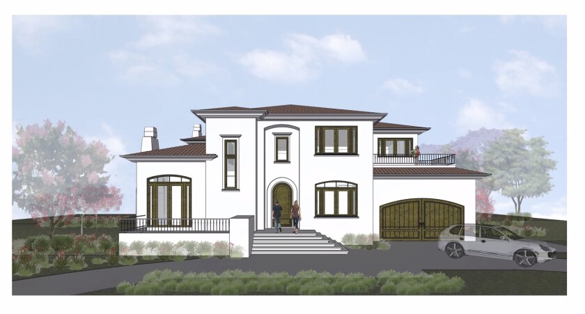 A rendering shows the design for 2989 Woodford Drive that was green-lighted by the La Jolla Shores Permit Review Committee.