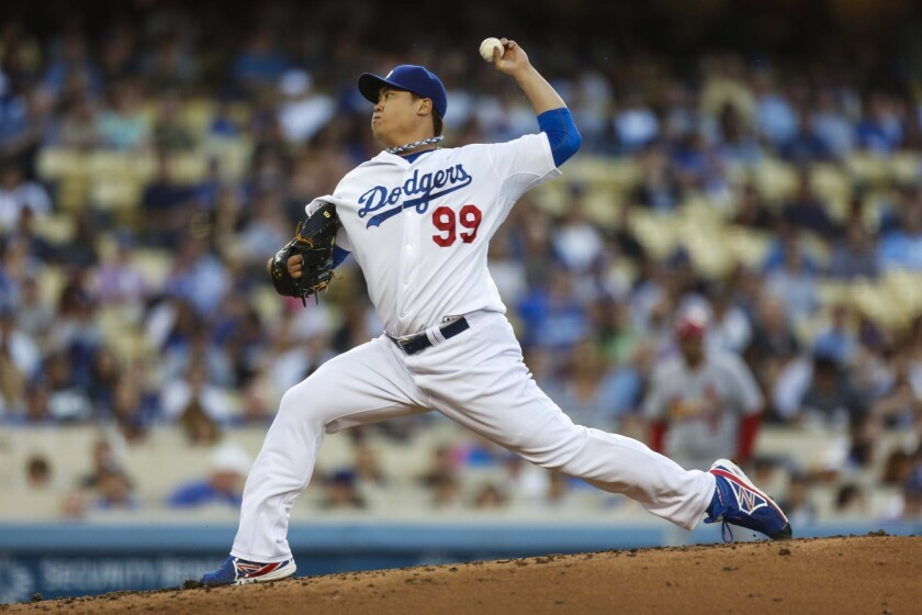 Dodgers pitcher Hyun-Jin Ryu had an off night against the Marlins, but the Dodgers still won 2-1.
