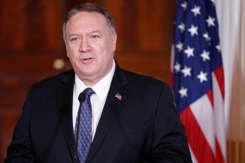 """Pompeo dice que EE.UU. sigue abierto a paz con talibanes con """"condiciones"""""""