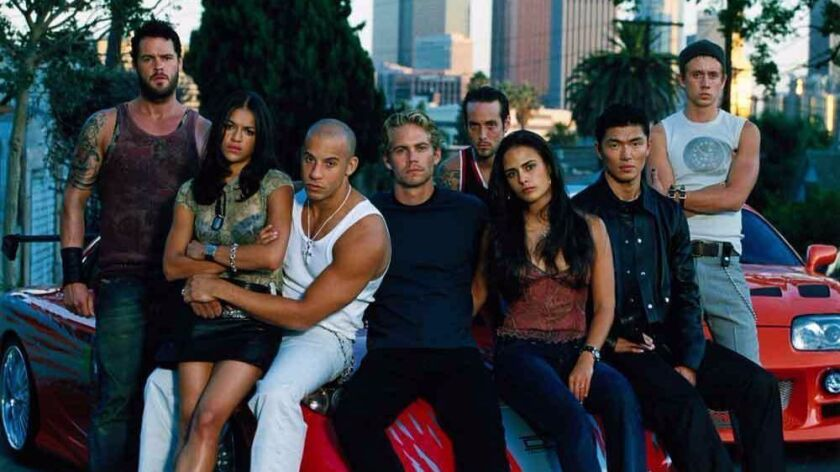"""The original family in 2001's """"The Fast and the Furious,"""" which started the $4-billion global franch"""