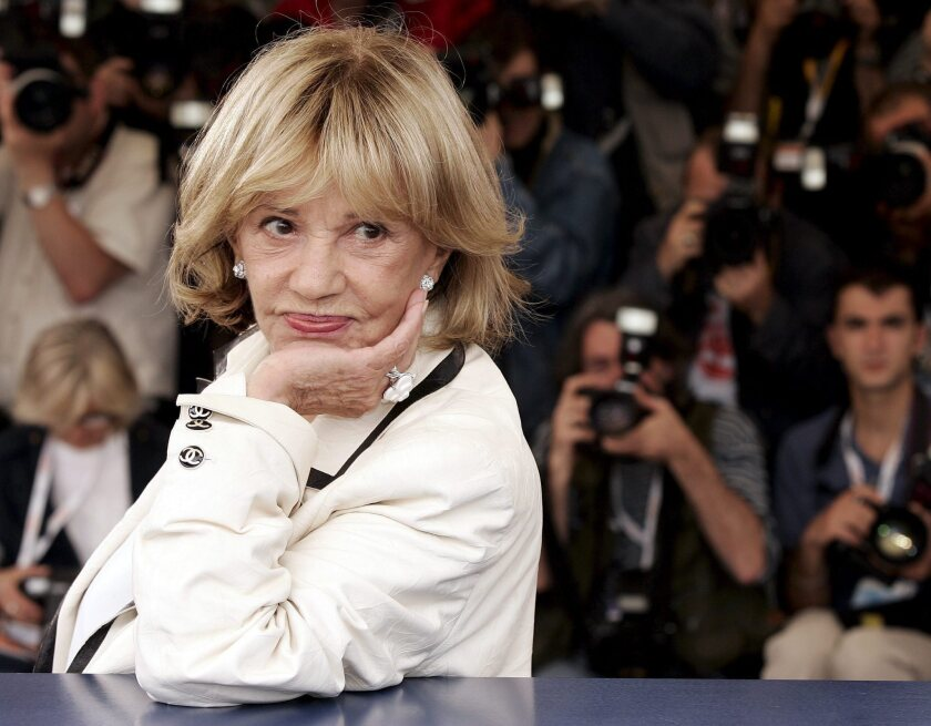 Jeanne Moreau photographed at the 2005 Cannes Film Festival during a photo call for the movie 'Le temps qui reste' by French director Francois Ozon.