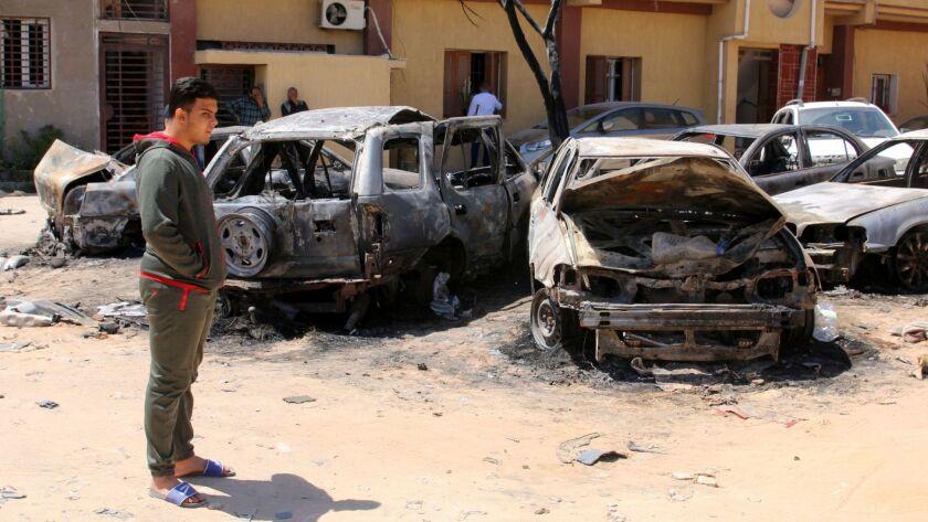 Shelling on the southern district of Abu Salim in Tripoli, Libyan Arab Jamahiriya - 17 Apr 2019