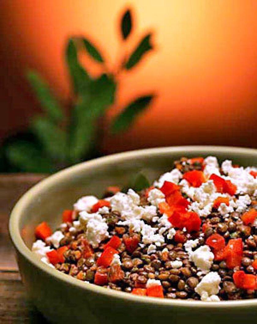 Deborah Madison's lentil salad.