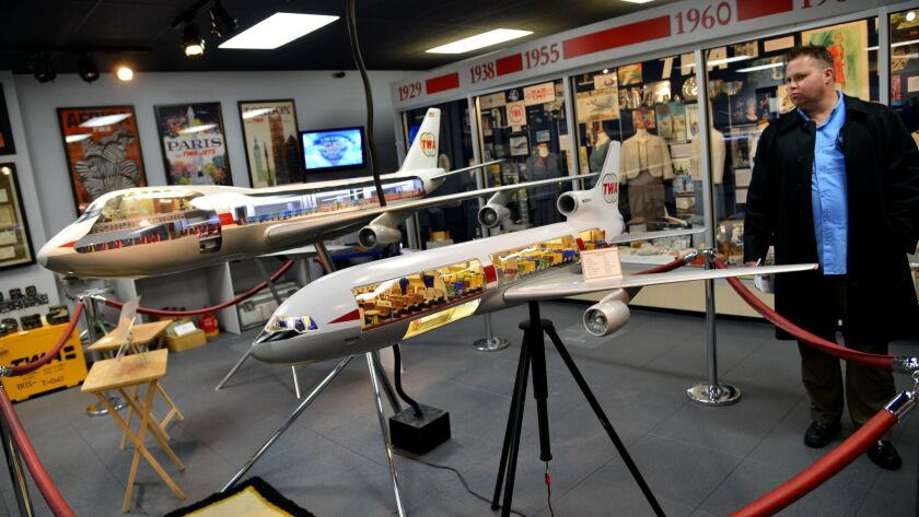 People tour TWA Museum in Kansas City. The museum is a living monument to an airline that once ferri