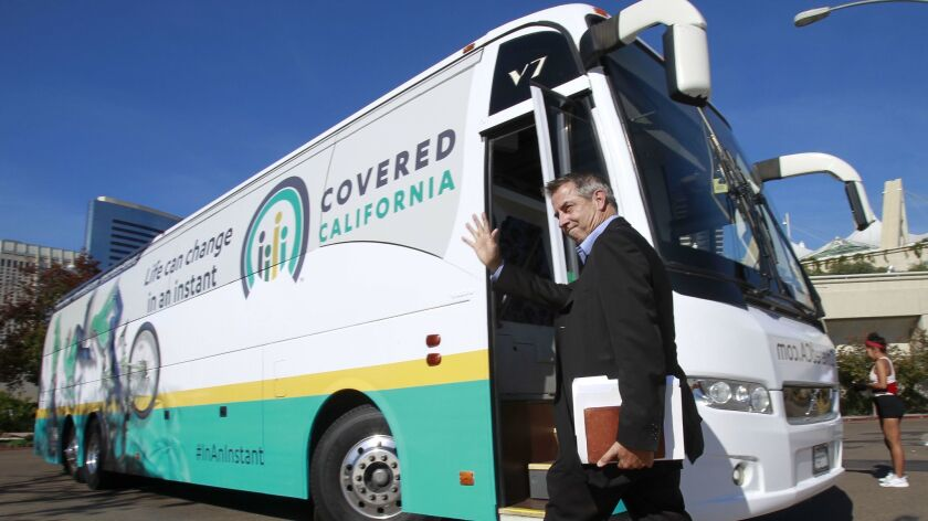 SAN DIEGO, November 13, 2018   Executive Director of Covered California Peter Lee waves before board