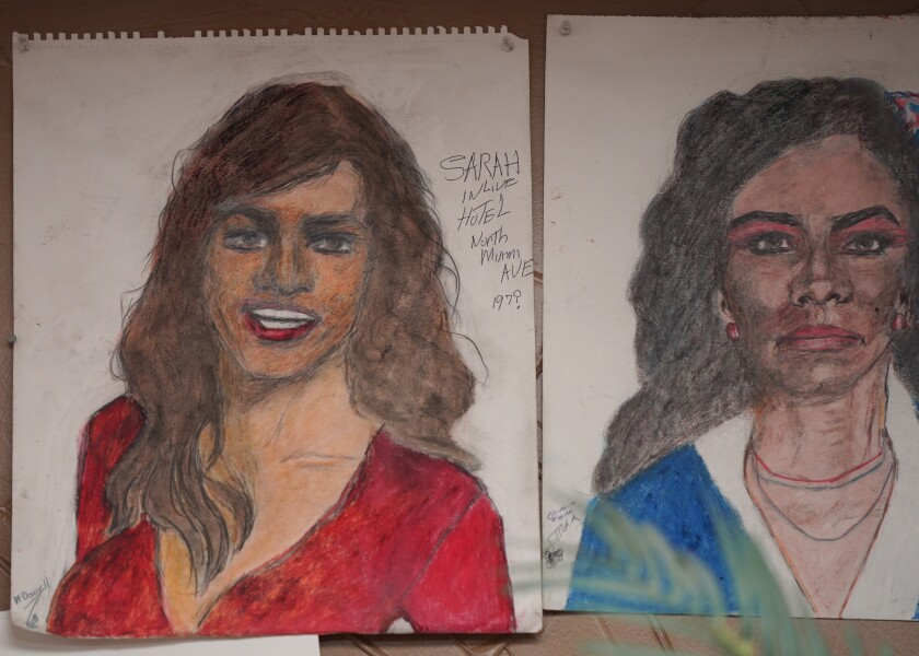 Two portraits made by Samuel Little