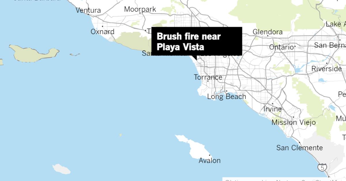 brush fire near playa vista.