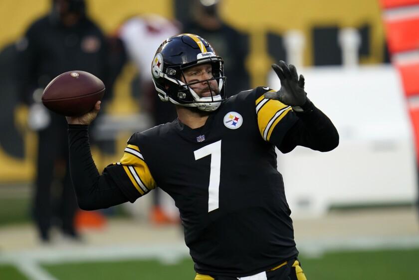 El quarterback Ben Roethlisberger, de los Steelers de Pittsburgh