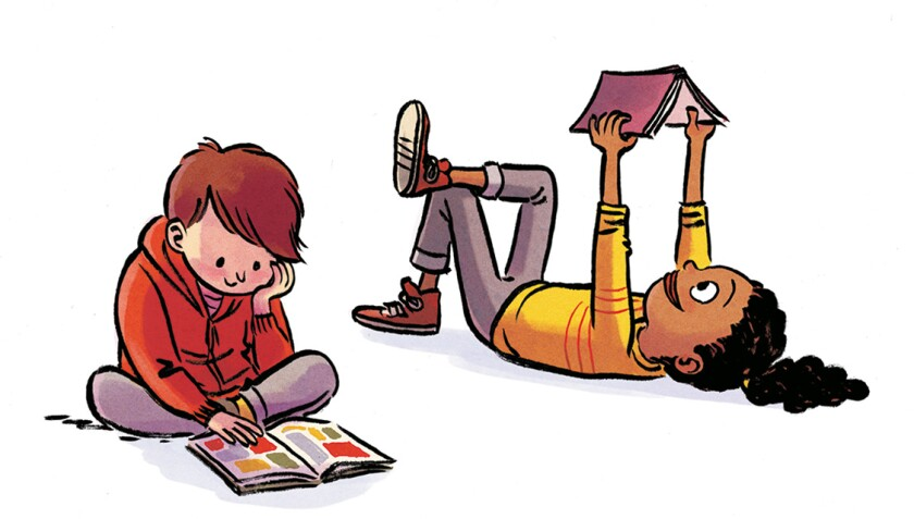 "An illustration from ""How to Raise a Reader"" by Pamela Paul and Maria Russo"