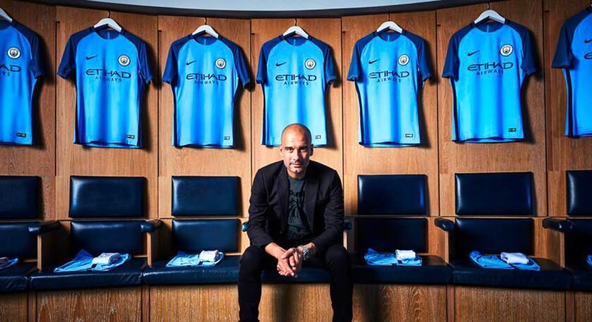 Pep Guardiola, nuevo entrenador del Manchester City.