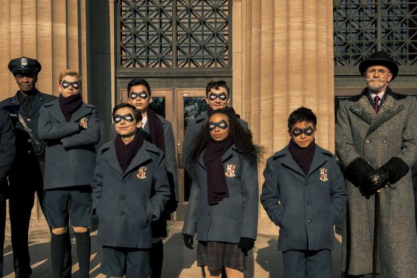 "A scene from ""The Umbrella Academy."""