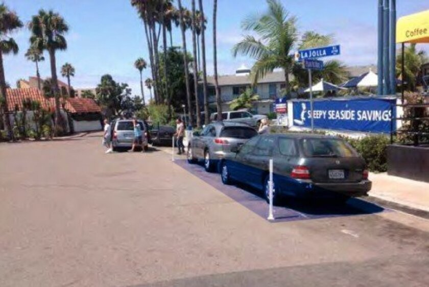 Bike-sharing station No. 85 at 484 Playa del Norte (at La Jolla Boulevard) would replace two street parking spaces.