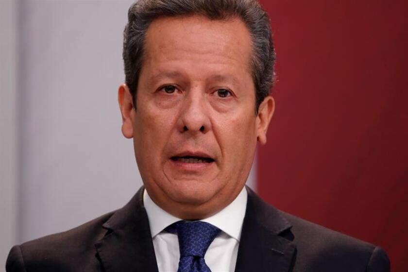 El vocero de la Presidencia, Eduardo Sánchez, durante una rueda de prensa. EFE/Archivo