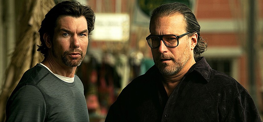 """Jerry O'Connell, left, and John Corbett in the movie """"The Lookalike."""""""