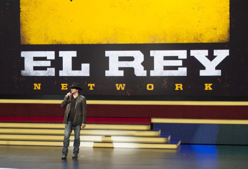 Time Warner Cable will be among the first cable companies to offer Robert Rodriguez's El Rey Network. Above, Rodriguez at Univision's upfront presentation in New York in May.