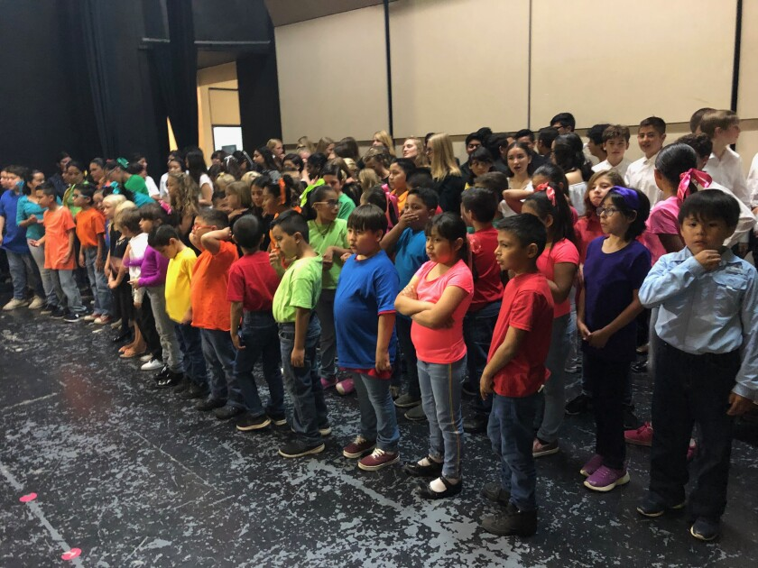"""Over 40 children from the One World Children's Choir joined with 85 other children in Ensenada for a """"unity"""" concert."""
