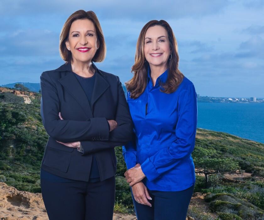 La Jolla real estate team and sisters Susana Corrigan (left) and Patty Cohen