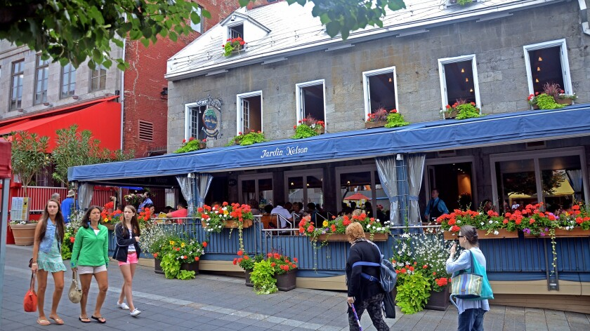 Jardin Nelson restaurant in Old Montreal.
