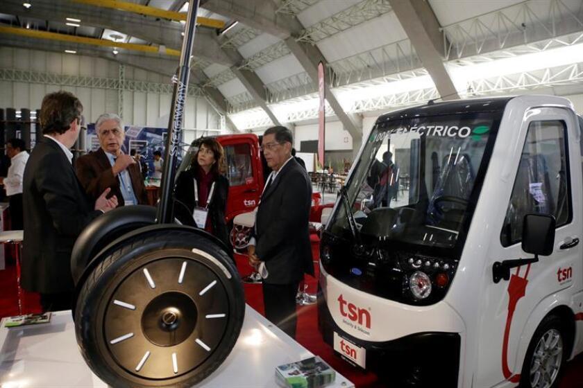 Expositores participan hoy, martes 11 de Septiembre de 2018, en el Smart City Expo Latam Congress 2018, foro sobre ciudades inteligentes que reúne a las principales instituciones y personalidades que lideran el cambio y la transformación urbana, en la ciudad de Puebla (México). EFE