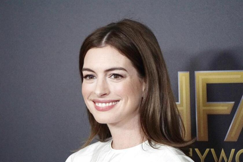 US actress Anne Hathaway arriving for the 22nd Annual Hollywood Film Awards at the Beverly Hilton Hotel in Beverly Hills, California, USA. EFE/EPA/File