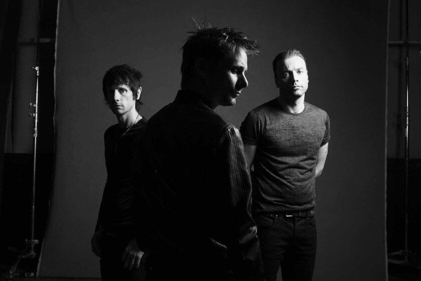 """Muse's seventh album, """"Drones,"""" earned a Grammy Award nomination last month."""