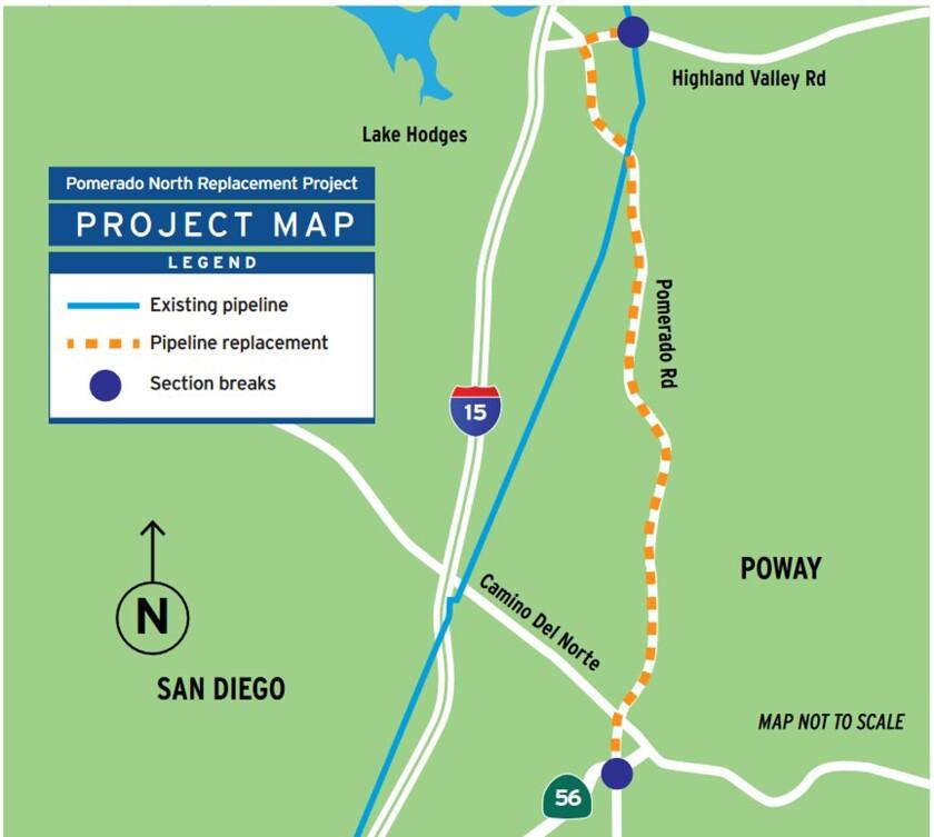 Map for SDG&E's Pomerado North Replacement Project.