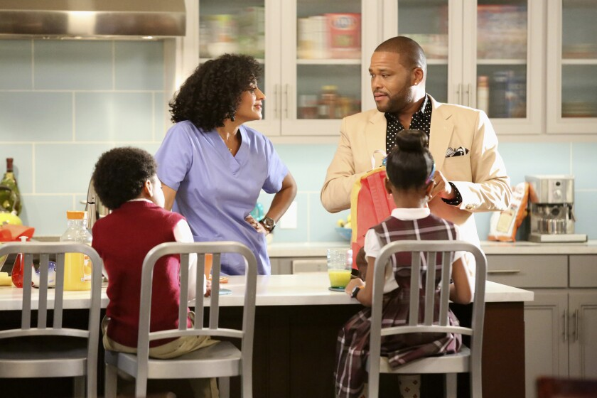 """Tracee Ellis Ross, left, and Anthony Anderson star in ABC's new family comedy """"black-ish."""""""