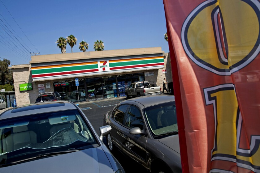 7-Eleven franchisee Jos Dhillon's store in Reseda, Calif., on Aug. 17, 2018