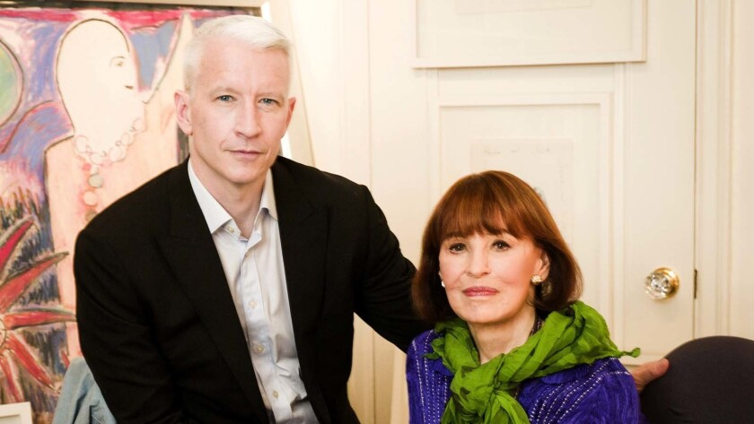 """Anderson Cooper and Gloria Vanderbilt in HBO's documentary """"Nothing Left Unsaid."""""""