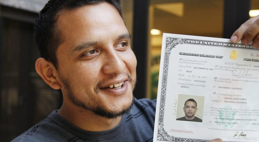Mexican immigrant in the country illegally becomes citizen after U.S. military service