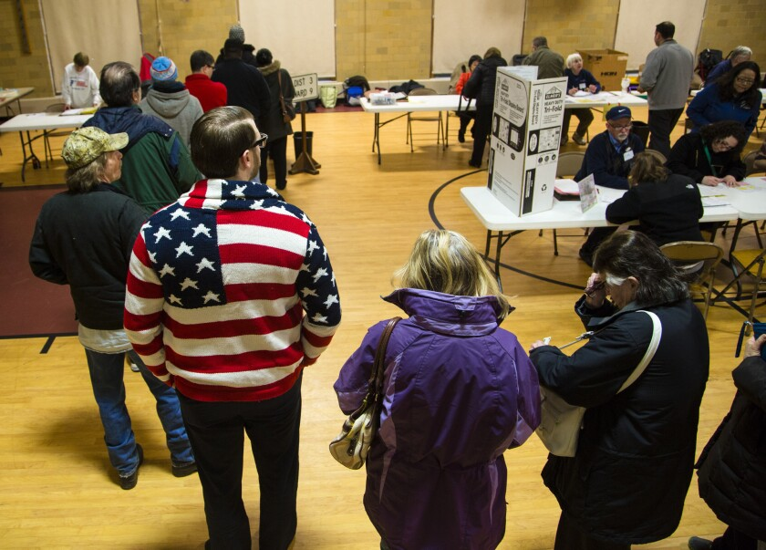 Voters in Milwaukee County cast ballots in the primary election in April 2016.