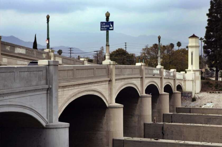 In 2010, L.A. approved a plan that would put bike lanes on the Glendale-Hyperion Bridge, pictured above. Recently, however, the city has been moving forward with a bridge redesign that leaves the bike lanes out.