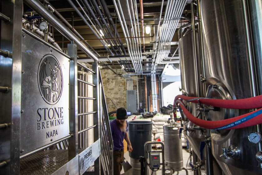 Stone Brewing opened a new outpost in Napa.