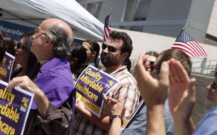 SEIU won a big union vote among Kaiser Permanente employees in California in results announced Thursday.