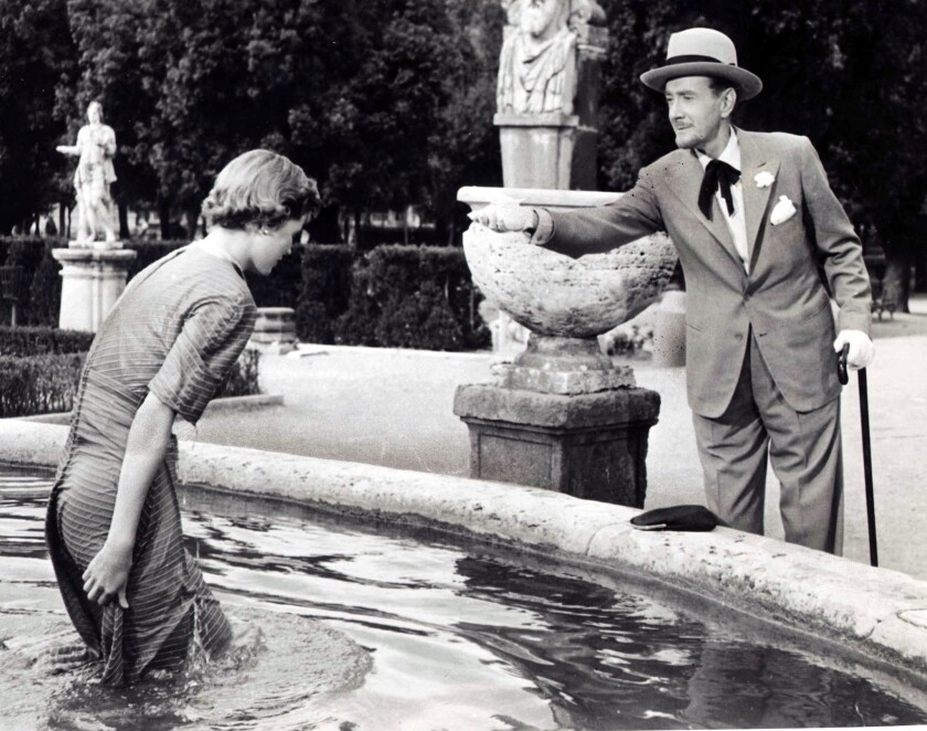 """Dorothy McGuire and Clifton Webb in """"Three Coins in the Fountain."""""""