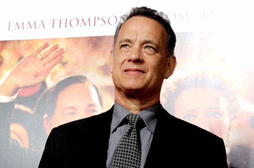"Tom Hanks and Emma Thompson talk about their new movie ""Saving Mr. Banks"" at the film's AFI Fest premiere in Hollywood"
