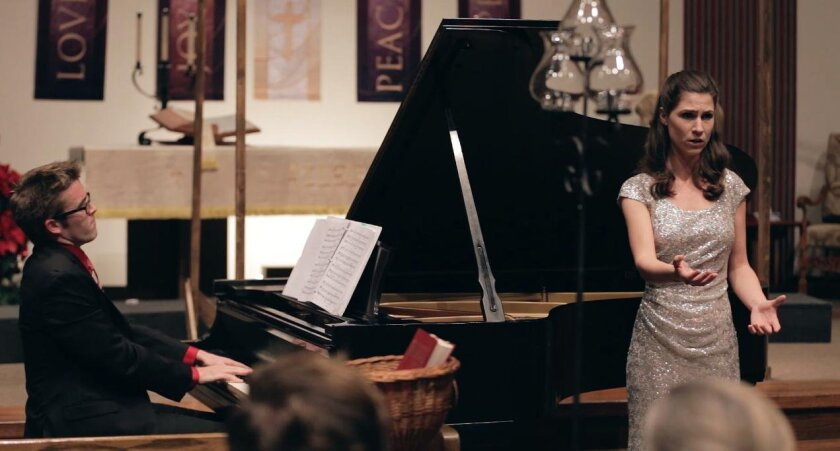 Katina Mitchell with Peter Walsh on piano