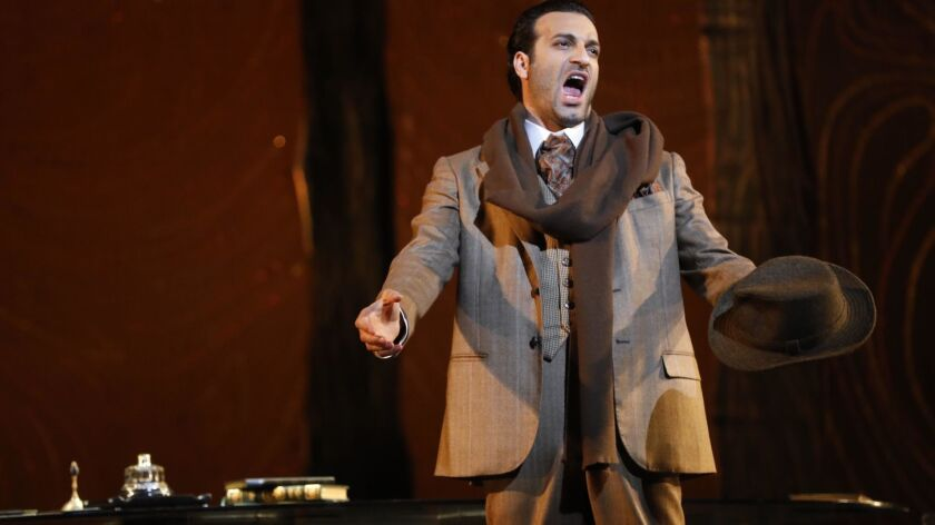 LOS ANGELES, CA - MAY 30, 2019 - - Rame Lahaj performs in Los Angeles Opera's production of Verdi's