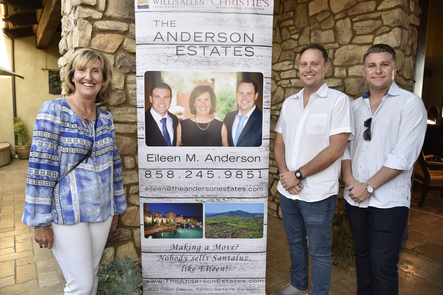 Event sponsors Eileen Anderson, Michael Anderson, Neil Anderson