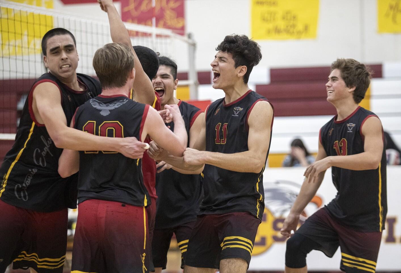 Photo Gallery: Costa Mesa vs. Estancia in boys' volleyball