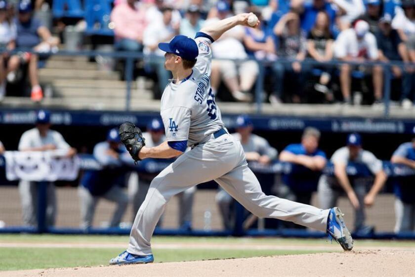 Ross Stripling, abridor de los Dodgers de Los Ángeles. EFE/Archivo