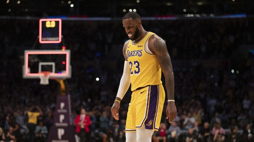 buy popular fd419 56f45 LeBron James hits game-tying shot, but Lakers remain winless ...