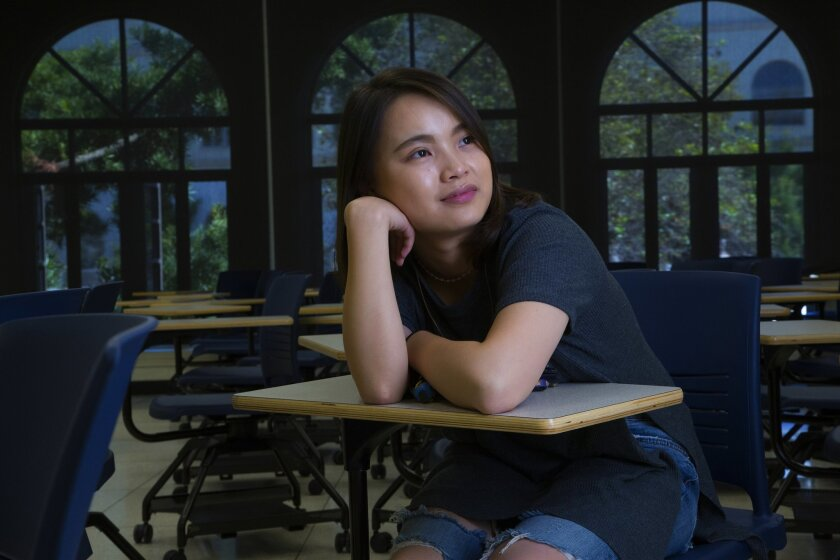 Yanran Xiong, 22, from Guiyang City in China has been in the U.S. for close to 4-years now as she finishes up her communications degree at USD. Currently she serves as the vice-president of the International Student Organization.