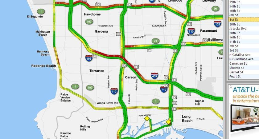 One person killed in three-vehicle crash on 405 Freeway in Torrance