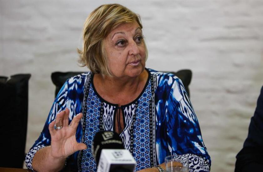 La ministra de Turismo de Uruguay, Liliam Kechichian, participa este miércoles en una conferencia de prensa donde detalló las cifras de visitantes durante el primer bimestre de 2019. EFE