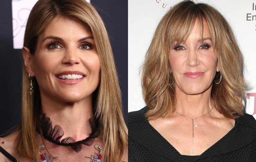 Las actrices de Hollywood, Lori Loughlin (izquierda) y Felicity Huffman son dos de las 40 personas investigadas por las autoridades.