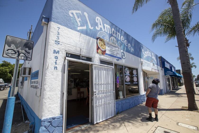 El Amancer Cafe in Santa Ana.