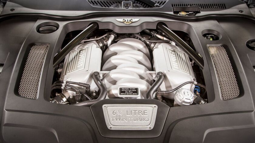 The Mulsanne is powered by a 505-horsepower, twin-turbocharged 6.75-liter V-8 with a staggering 752
